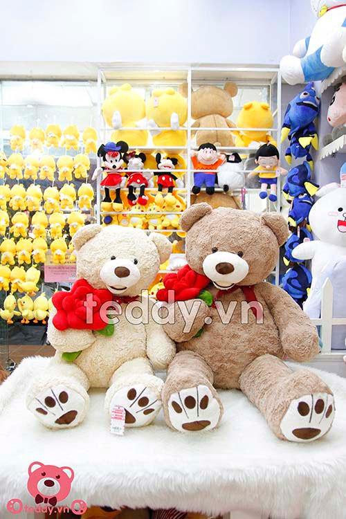 Teddy Ôm Hoa