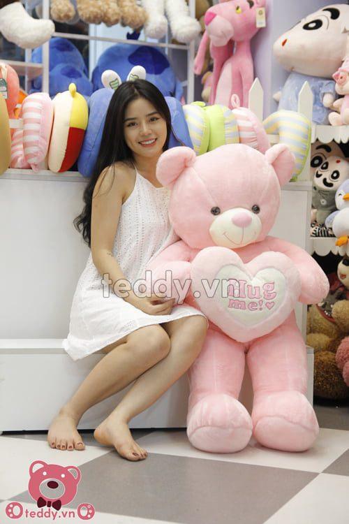 Teddy hug hồng baby