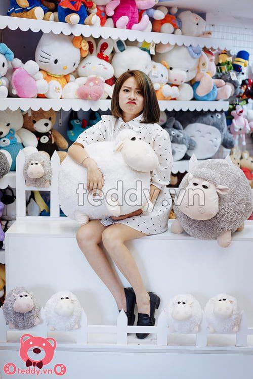 Gấu bông Cừu tròn