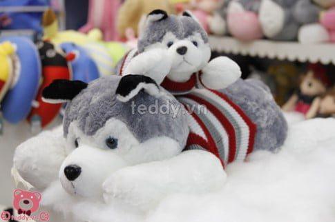 thú nhồi bông Chó bông Husky áo len
