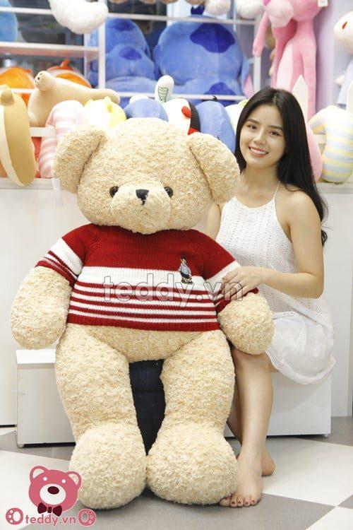 Chú gấu Teddy cao 1m6 kích thước to lờn ôm thật thích