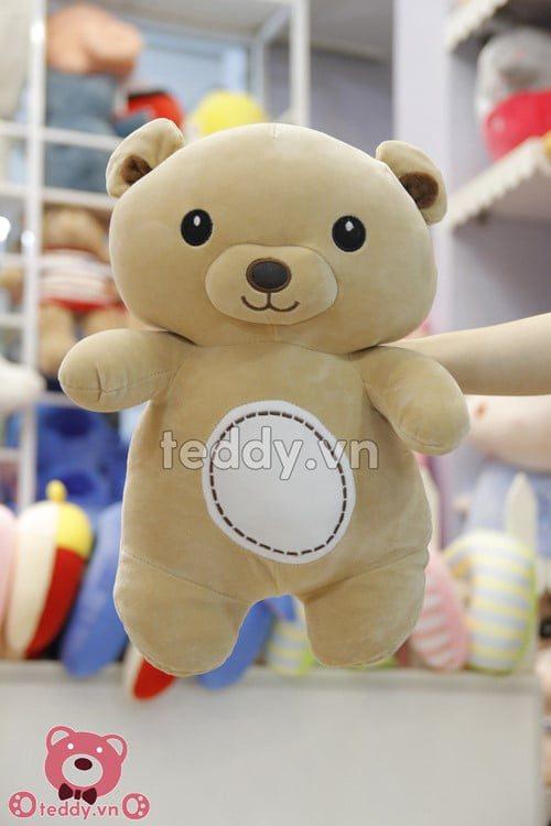 Chú gấu bông Rilakkuma màu nâu sữa khuôn mặt vui tươi