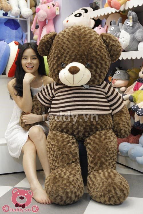 Chú gấu bông Teddy áo len Khỉ 1m6