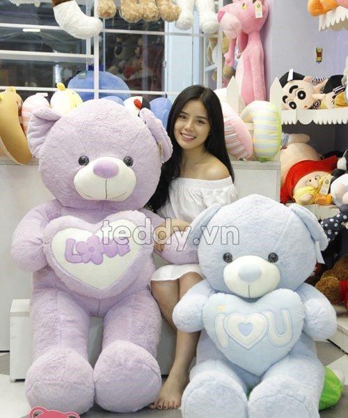 Gấu bông teddy chính hãng có hình dáng ngộ nghĩnh bắt mắt