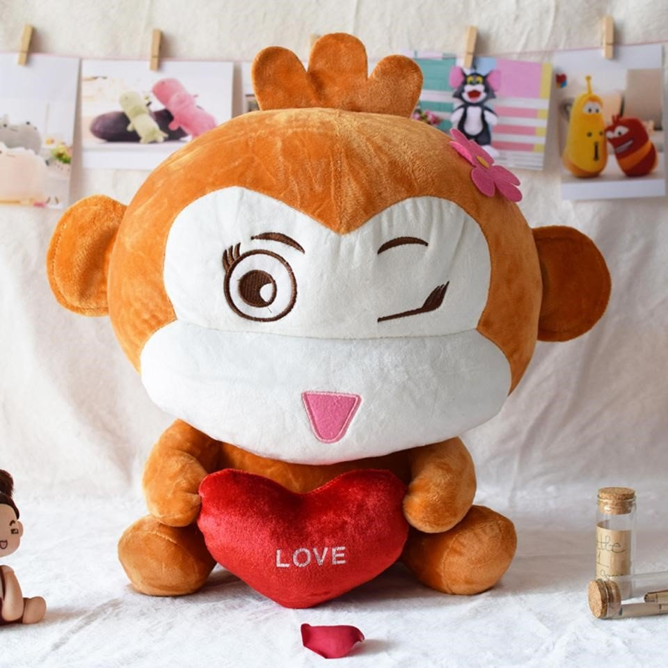 Khỉ bông ngộ nghĩnh ôm trái tim vô cùng đáng yêu