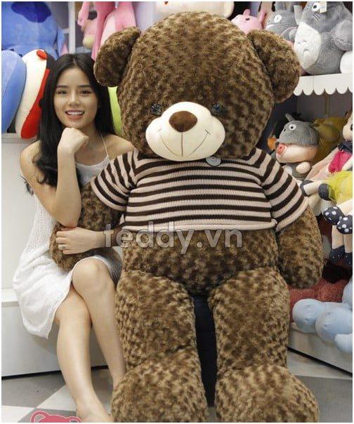 gấu bông cỡ lớn Teddy Chocolate 2017