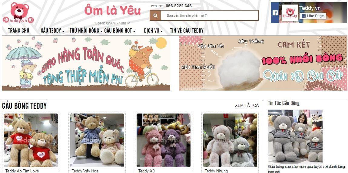 Teddy.vn địa chỉ mua gấu bông Teddy uy tín tại Hà Nội