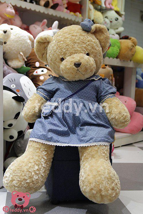 Gấu teddy váy hoa