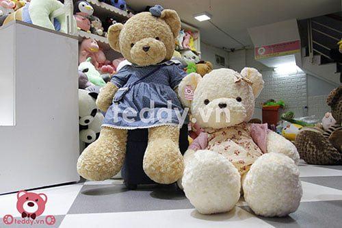 Gấu teddy váy hoa 1m2