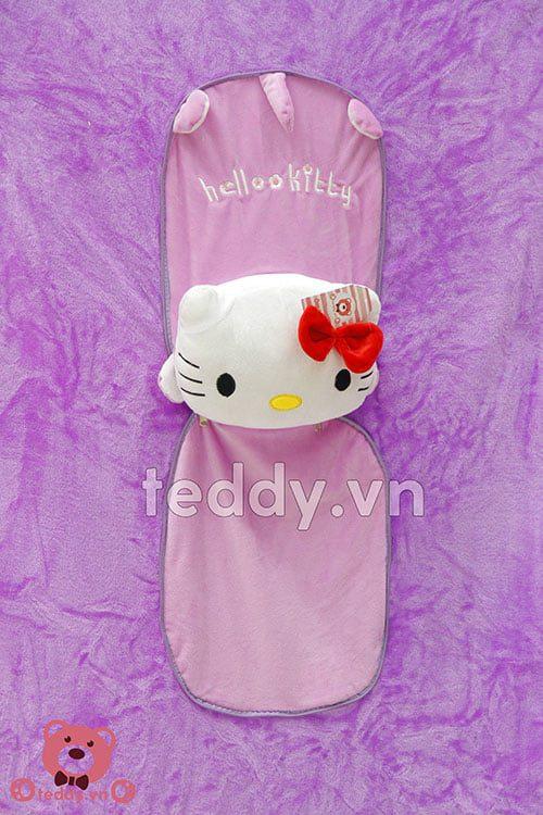 Gối Liền Chăn Mèo Hello Kitty