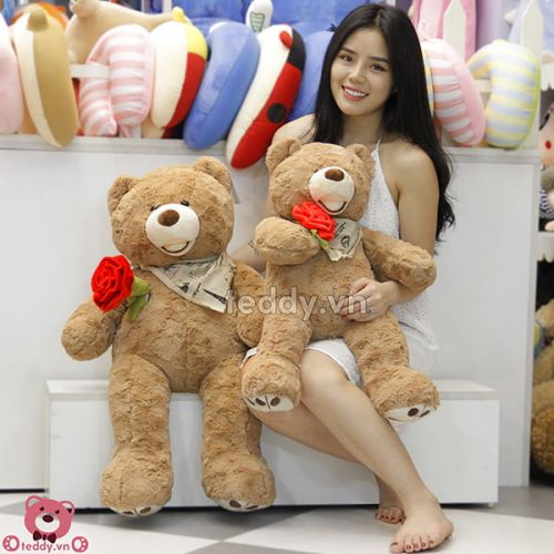 Gấu Teddy Ôm Hoa