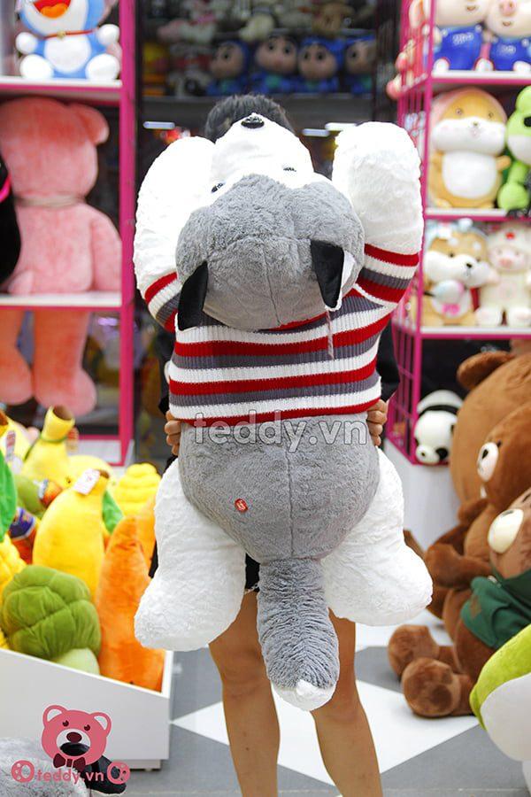Chó bông Husky Áo Len