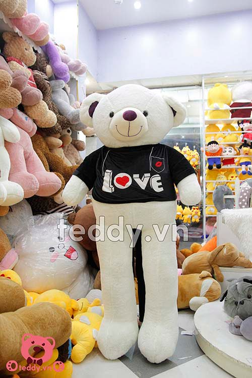 Gấu Bông Teddy Áo Đen Love