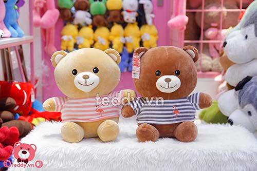 Gấu Bông Áo Kẻ