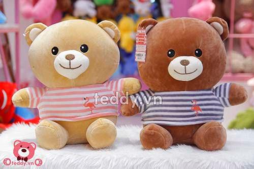 Gấu Bông Teddy Áo Kẻ