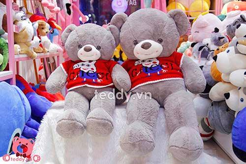Gấu Bông Teddy Áo Peppa tặng người yêu