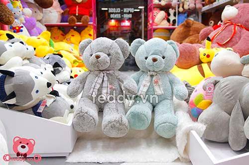 Gấu Bông Teddy Khăn Kẻ