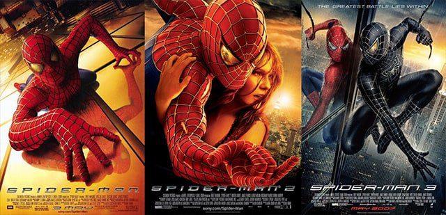 Spider man 1,2,3
