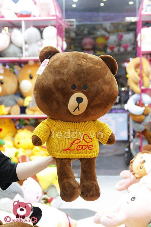 Brown Áo Len Bông