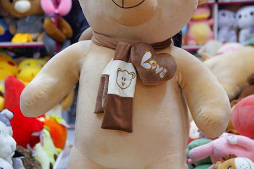 Gấu Bông Teddy Khăn Tim Mịn