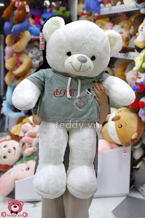 Gấu Bông Teddy Áo Nỉ Love