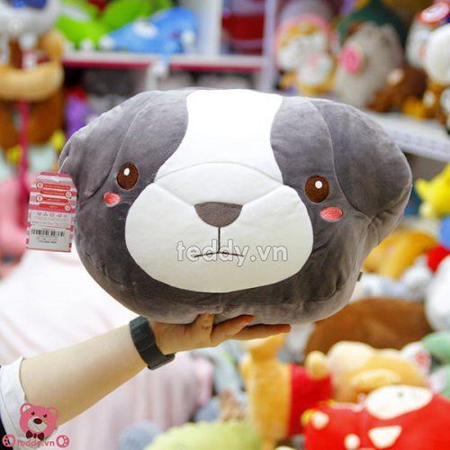 Gối Chăn Mềm Chó Bông