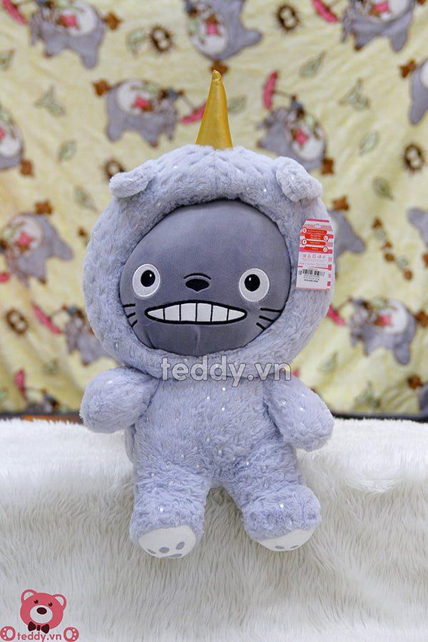 Gối Chăn Mềm Totoro Sừng