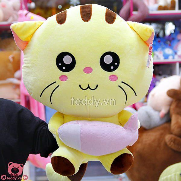 Mèo Bông Ôm Cá