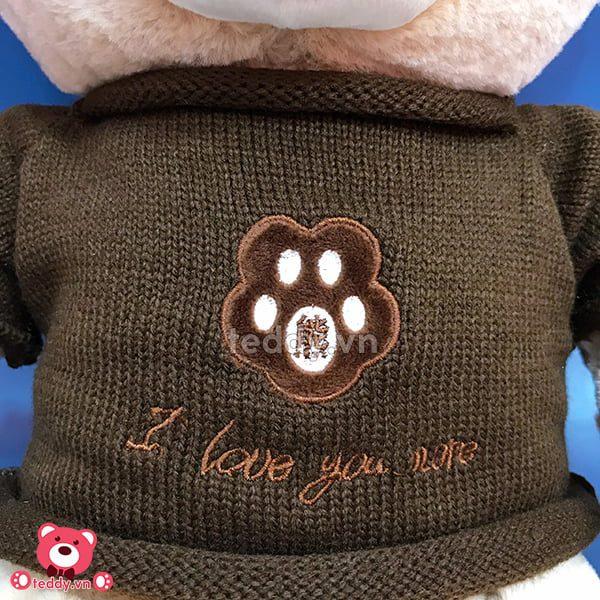 Gấu Bông Teddy Áo Len Love