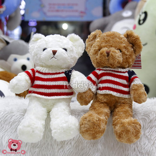 Gấu Bông Teddy Áo Len Cờ Mỹ