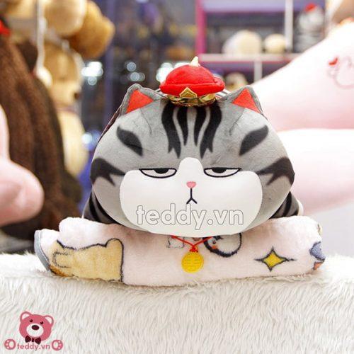 Gối Chăn Mền Mèo Hoàng Thượng Nằm