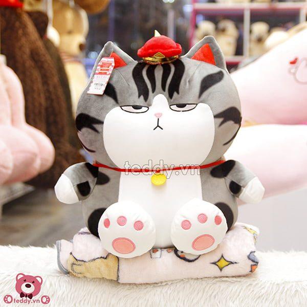 Gối Chăn Mền Mèo Hoàng Thượng Bông Ngồi