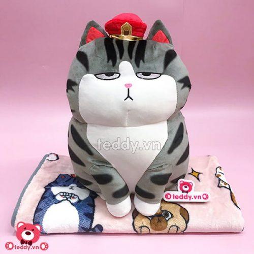 Gối Chăn Mền Mèo Hoàng Thượng Bông
