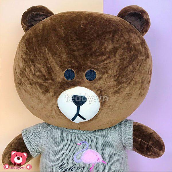 Gấu Bông Brown Cony Áo Len