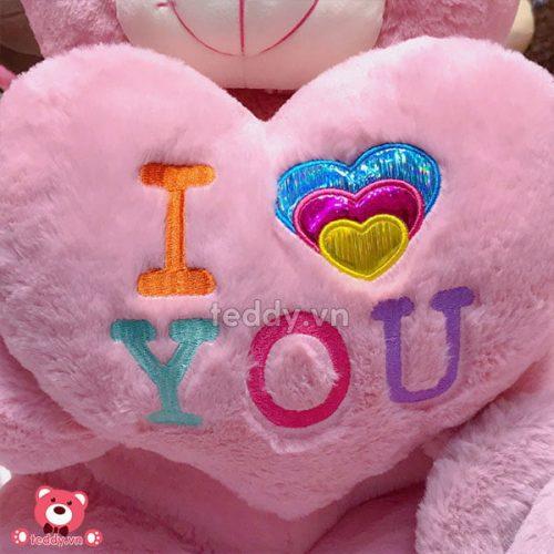 Gấu Bông Teddy Ôm Tim Love Màu