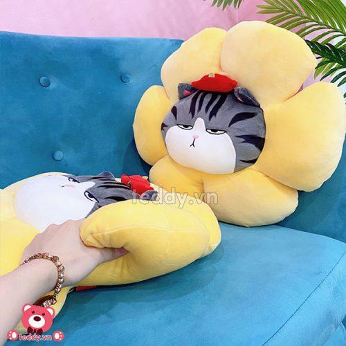 Gối Tròn Mèo Hoàng Thượng Hoa