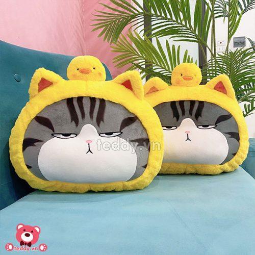 Gối Tròn Mèo Hoàng Thượng Cosplay Vịt