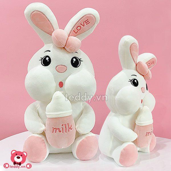 Thỏ Bông Ôm Bình Sữa